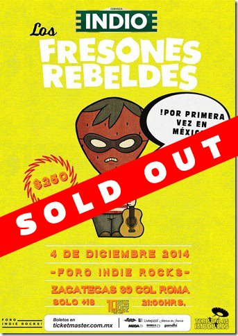 Cartel Sold Out Fresones Rebeldes